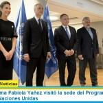 La primera dama Fabiola Yañez visitó la sede del Programa Mundial de Alimentos de Naciones Unidas