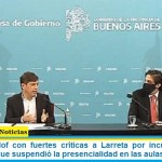 Trotta y Kicillof con fuertes críticas a Larreta por incumplir el DNU presidencial que suspendió la presencialidad en las aulas