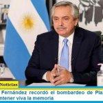 El Presidente Fernández recordó el bombardeo de Plaza de Mayo y convocó a mantener viva la memoria