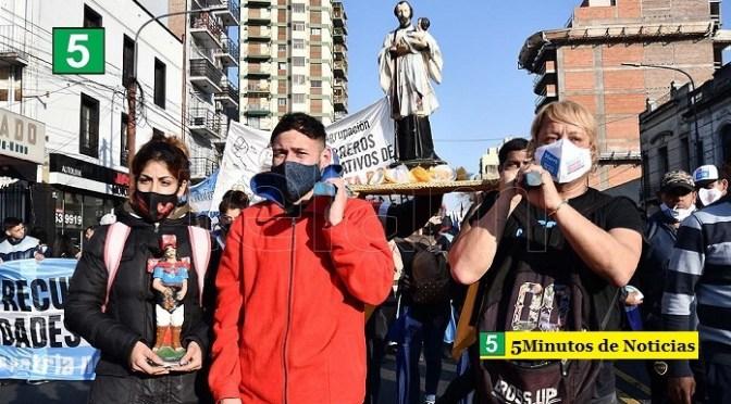 La UTEP reclamó «trabajo digno y salario universal» en marcha por San Cayetano