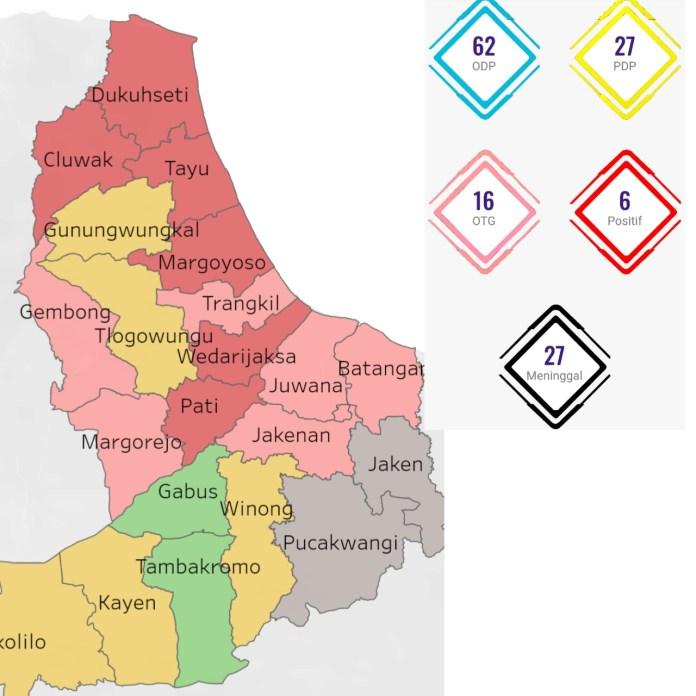 Pecah Rekor, Virus Corona Bikin 6 Kecamatan di Pati Berstatus Zona Merah