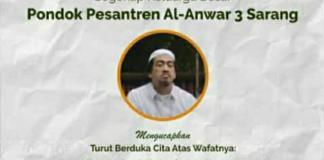 Innalillahi, Gus Robah Ubab Maimoen Sarang Wafat