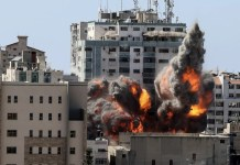 Menara Al-Jalaa Gedung yang menampung sejumlah kantor media termasuk Association Press (AP) dan Al Jazeera