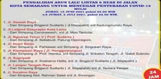 8 Ruas Jalan di Kota Semarang Ditutup Selama Dua Minggu