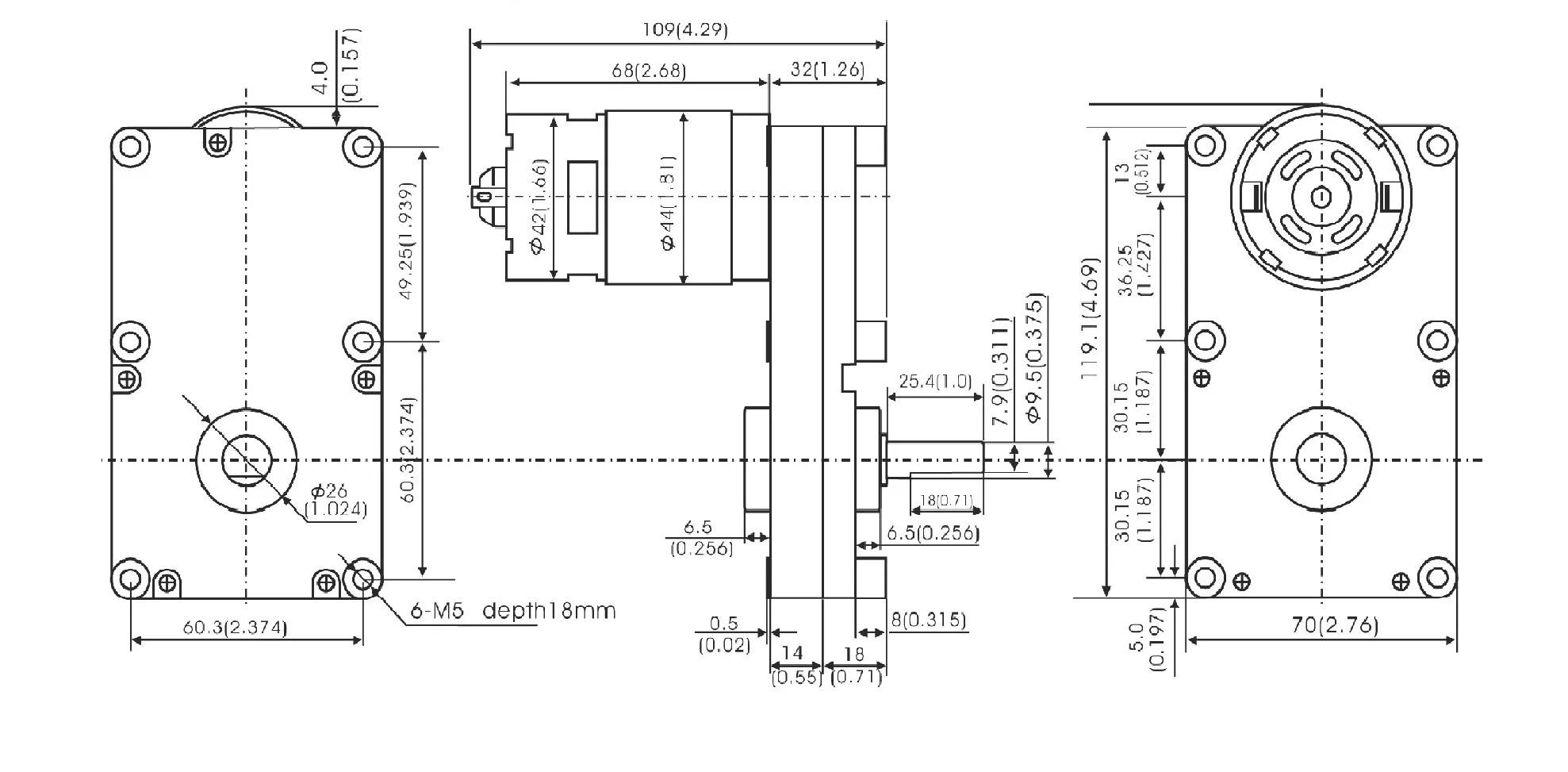 Gf775 Dc Gear Motor Ningobo Leison Motor Co Ltd