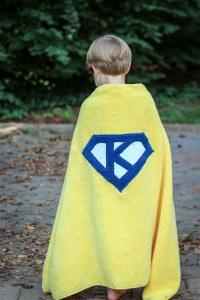 superhero towel cape