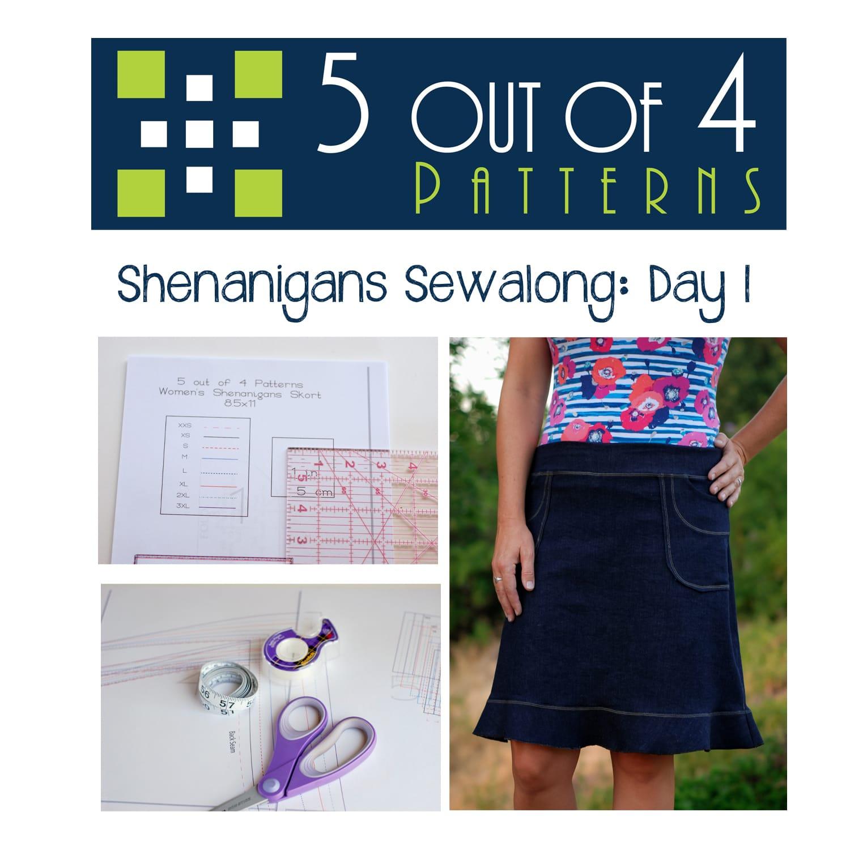 Shenanigans Sewalong: Day 1