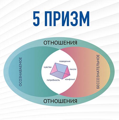 Диаграмма с описанием принципа 5 призм