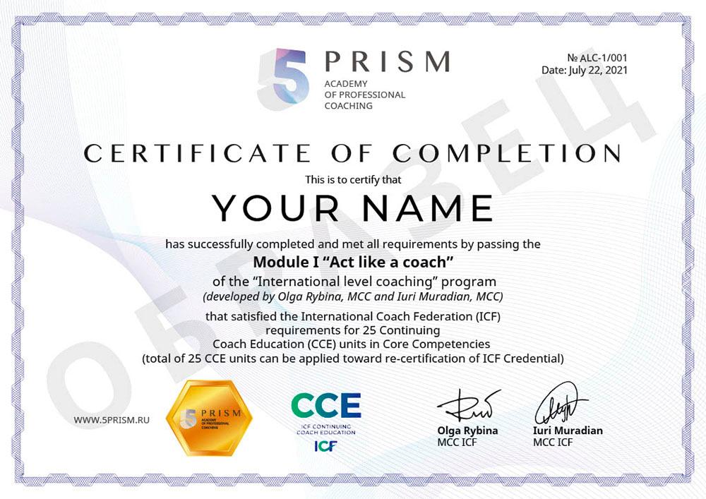 Делай как коуч CCE ICF сертификат