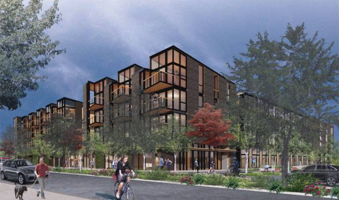 This Rendering Shows A View Of The Proposed Building At 2885 78th Ave Se