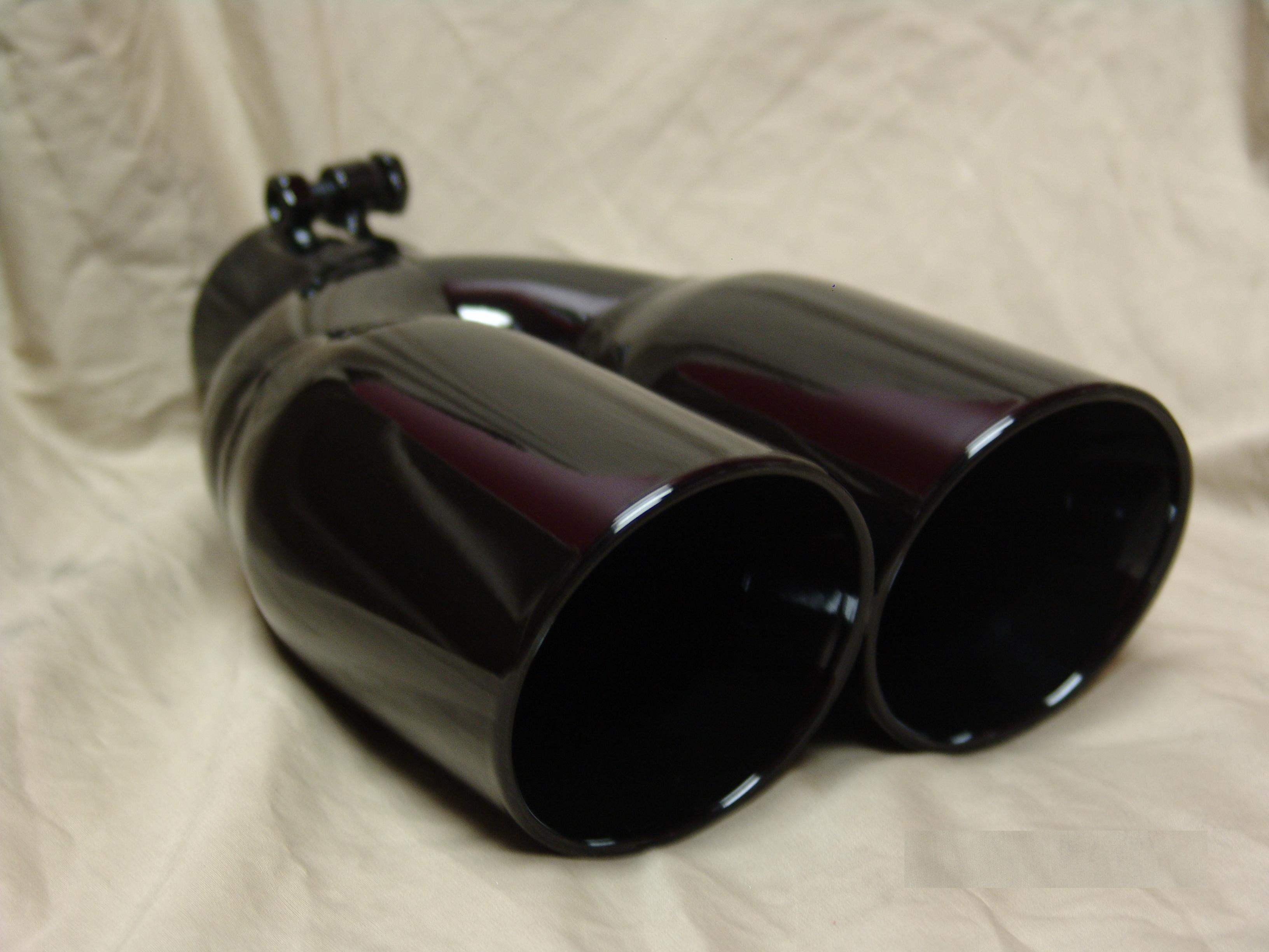 custom magnaflow quad exhaust black