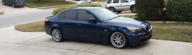 2004 Mystic Metallic Blue BMW 545i 6 Speed Featured