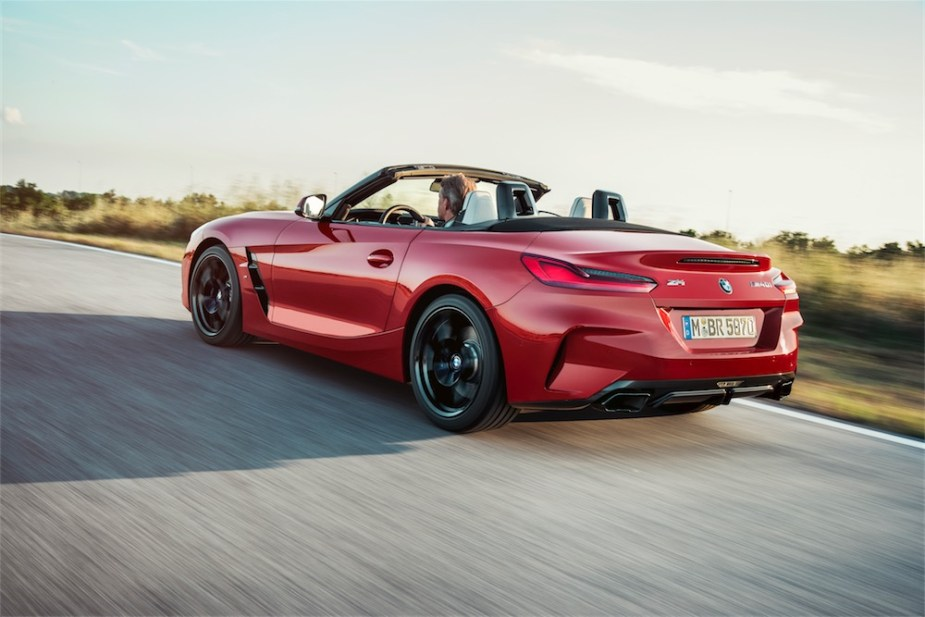 BMW Z4 M40i Roadster on the road.