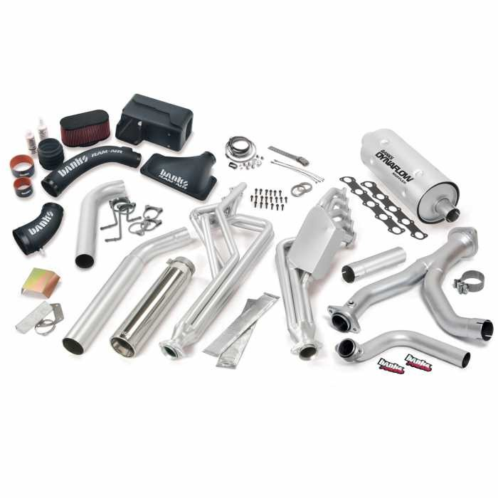 2016 2017 banks power pack headers cold air intake exhaust for 6 8l class a motorhome passenger side exit 49384
