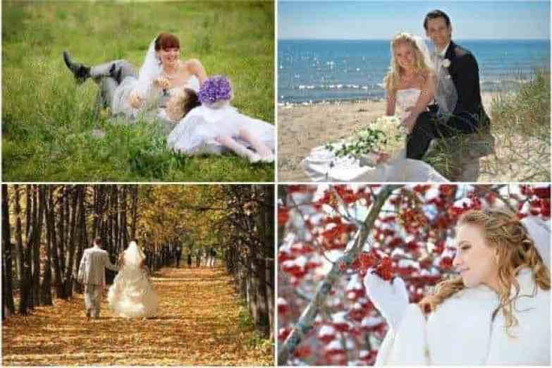 Spring Wedding Summer Wedding Winter Wedding Autum Wedding