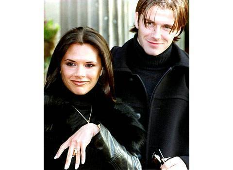 Victoria and David Beckham Engagement Ring