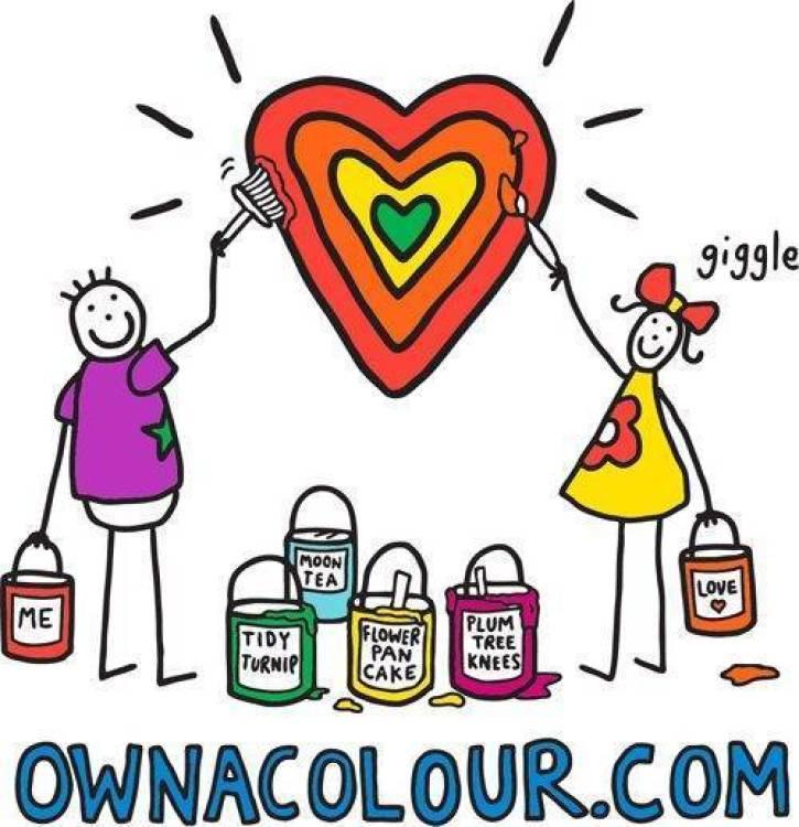 PURPLE RONNIE OWNACOLOUR.COM Heart painting Artwork