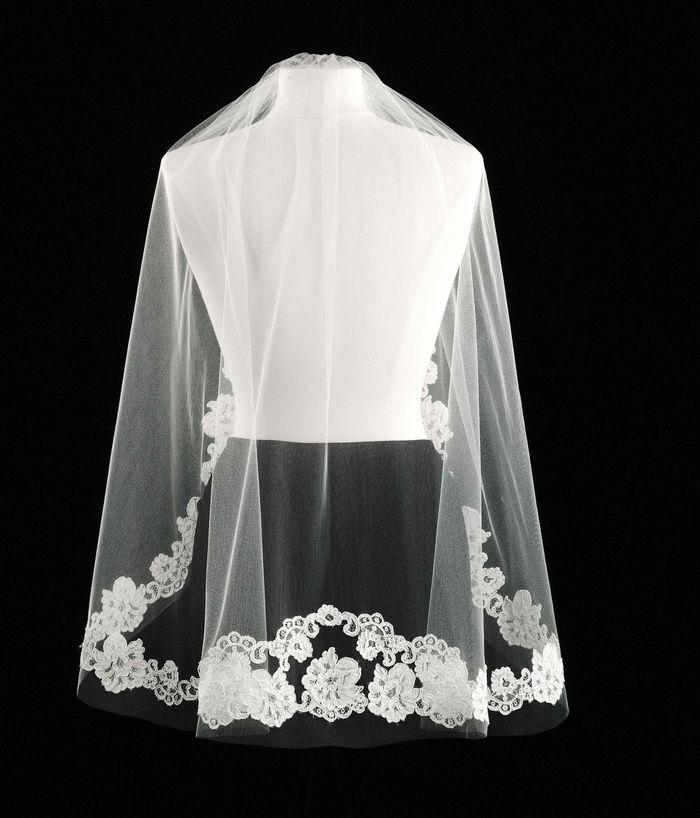 Short Lace Bridal Veil