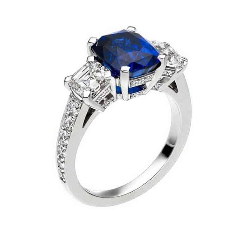 Three Stone Sapphire Diamond
