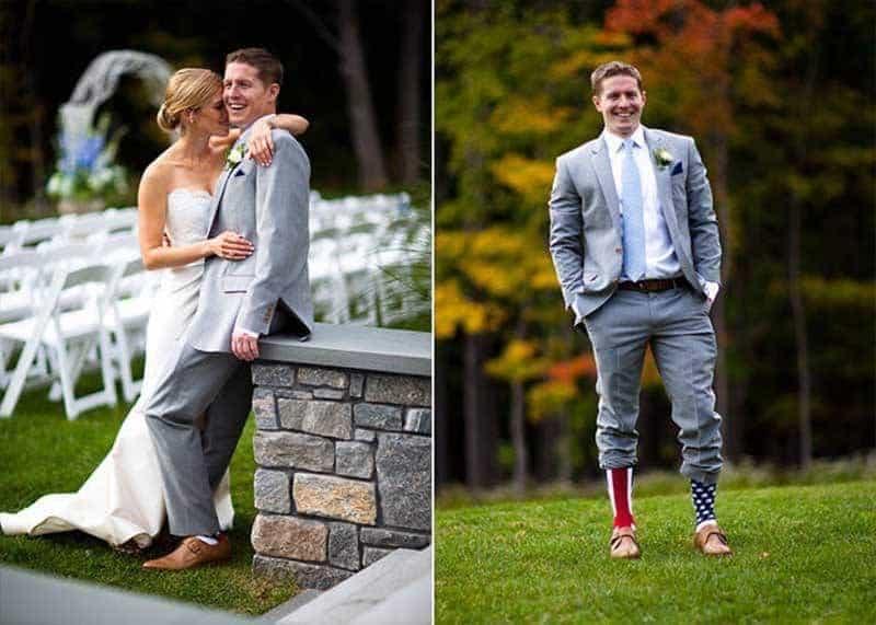 Blue Autumnal Real Wedding