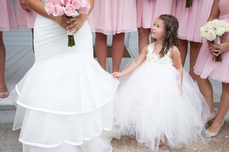 Flower girl with the bride