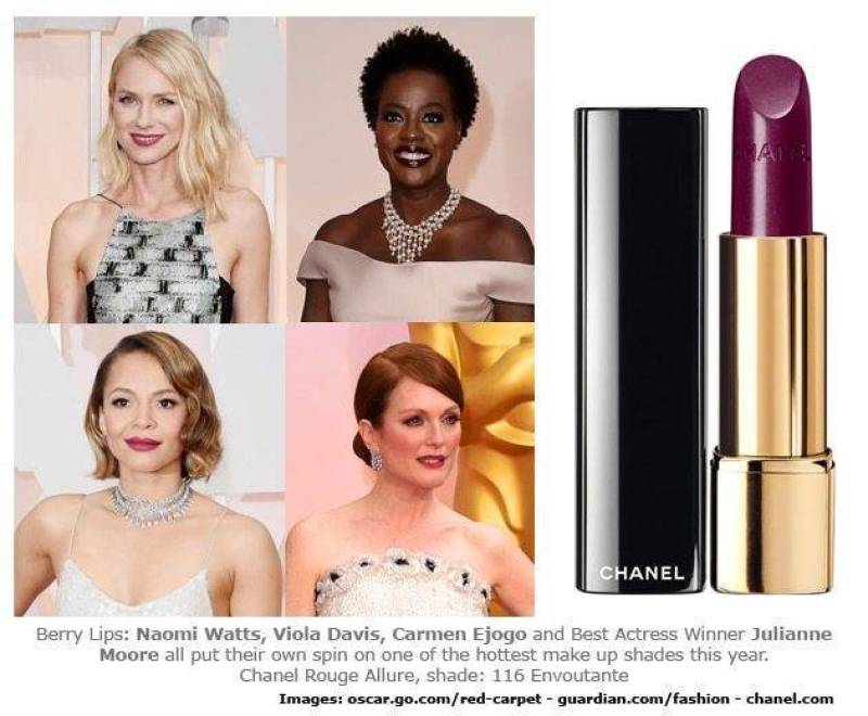 Berry Lips At Oscars