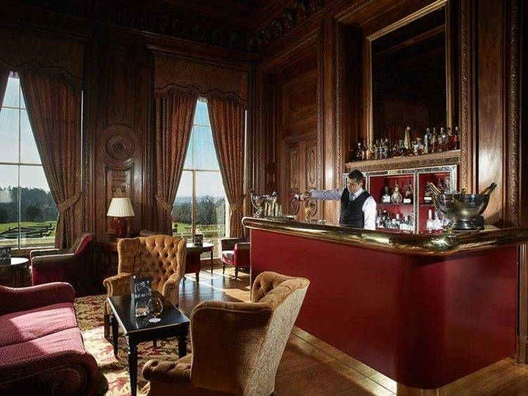 The Library bar, adjacent to the Great Hall. Photograph courtesy of Cliveden House