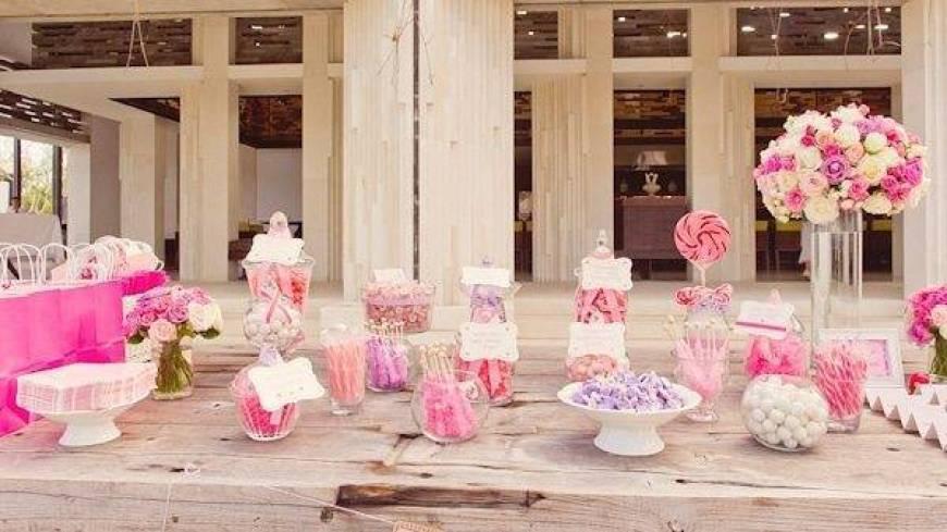 Pink Wedding Sweet Table
