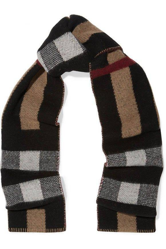Wool and cashmere blend scarf from Burberry
