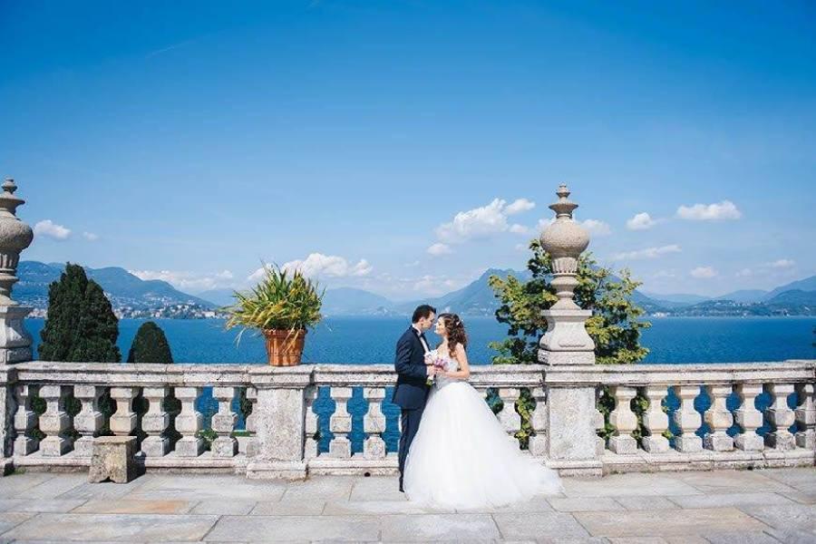 Bride and Groom Italian Lakes