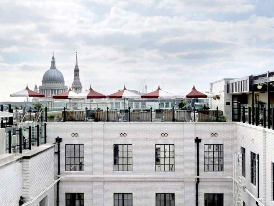 Review: The Ned - The roof terrace and pool