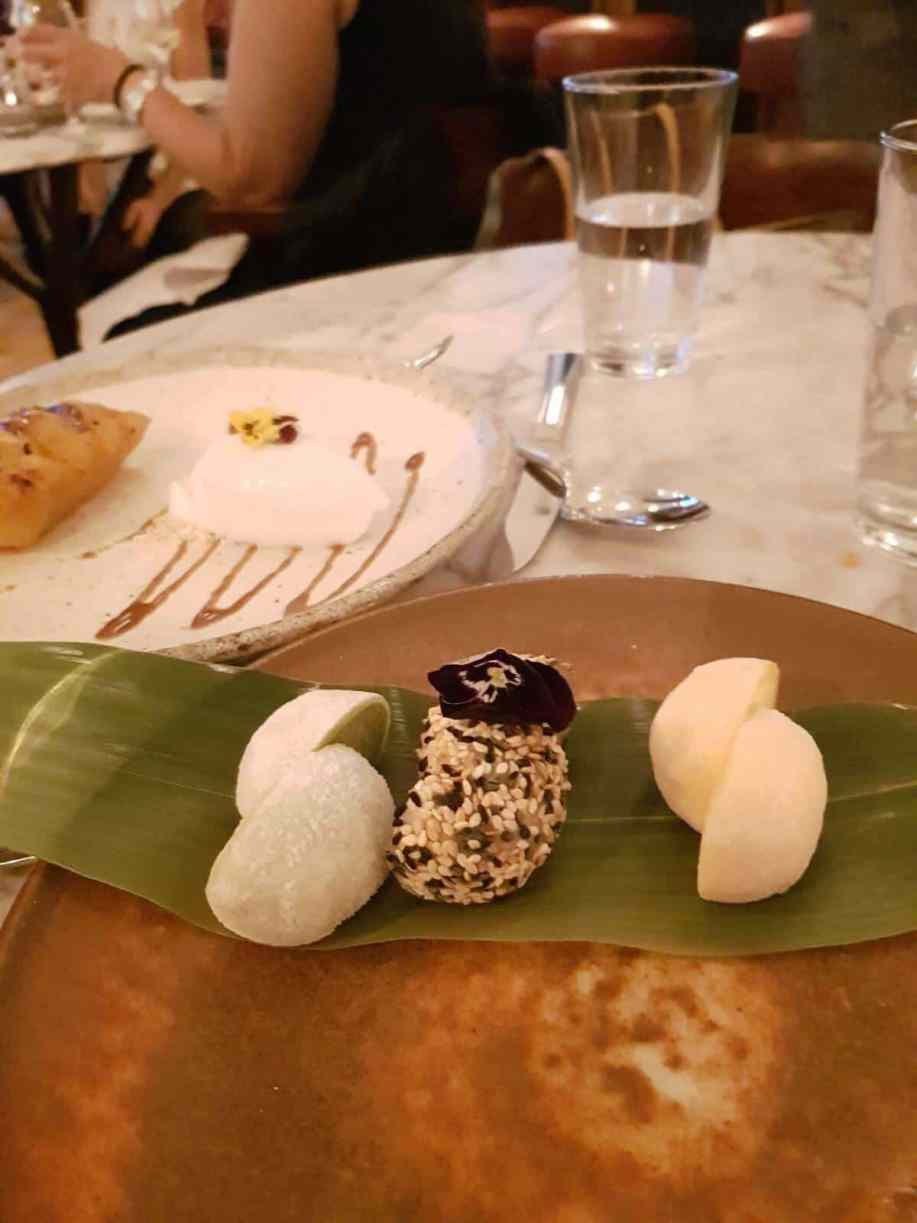 Review: The Ned = And beautiful dessert to finish - mochi