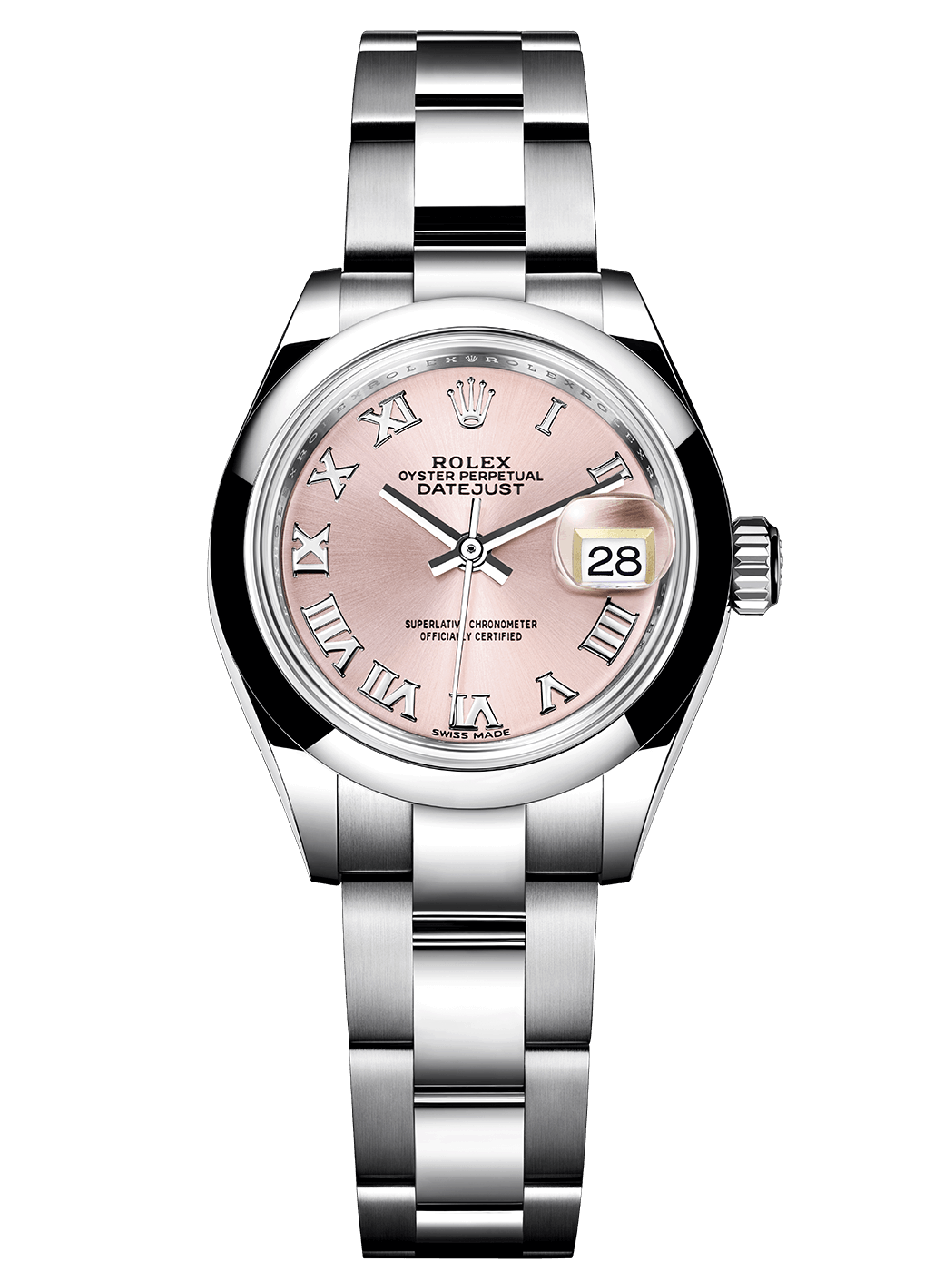 The new Lady DateJust, available for the first time in 904L Steel or with an 18 ct white gold bezel