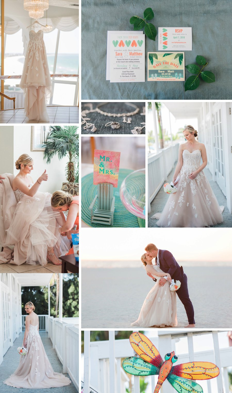Real Wedding: Tropical colour on the beach