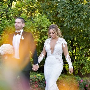 Real Wedding: Pure white in Beverly Hills