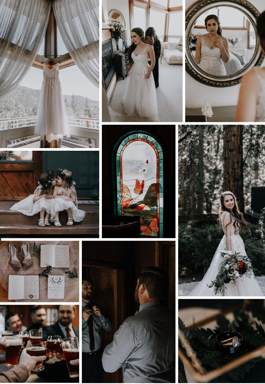 cabin wedding 1