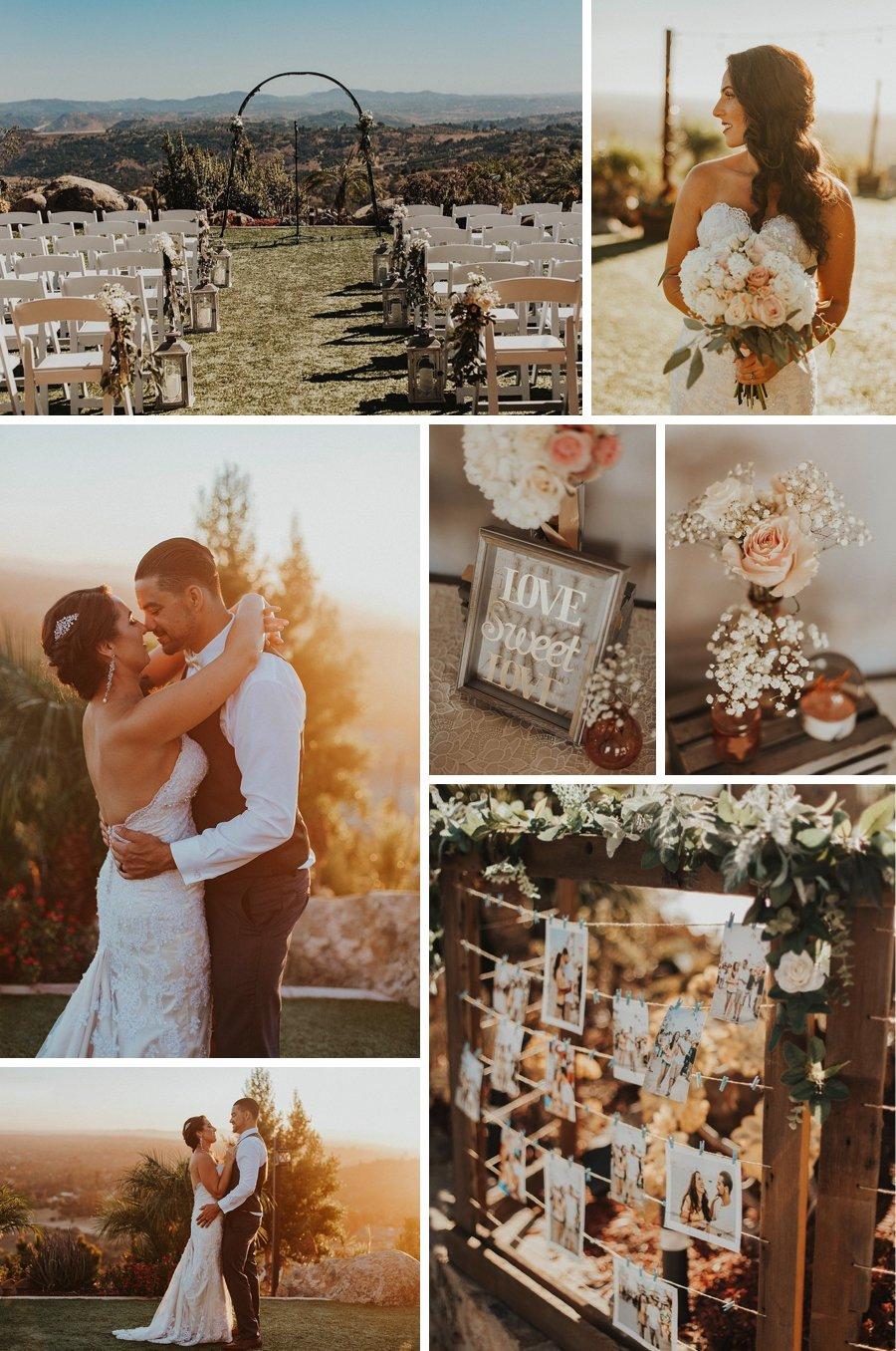 Real wedding: Californian hilltop and tacos