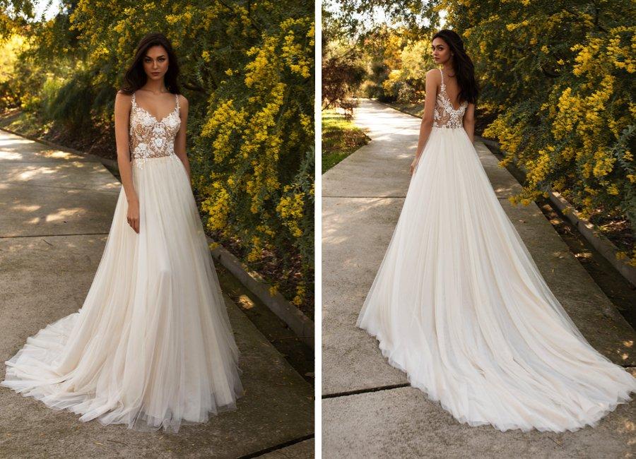 Wedding dress style: The A-line shape