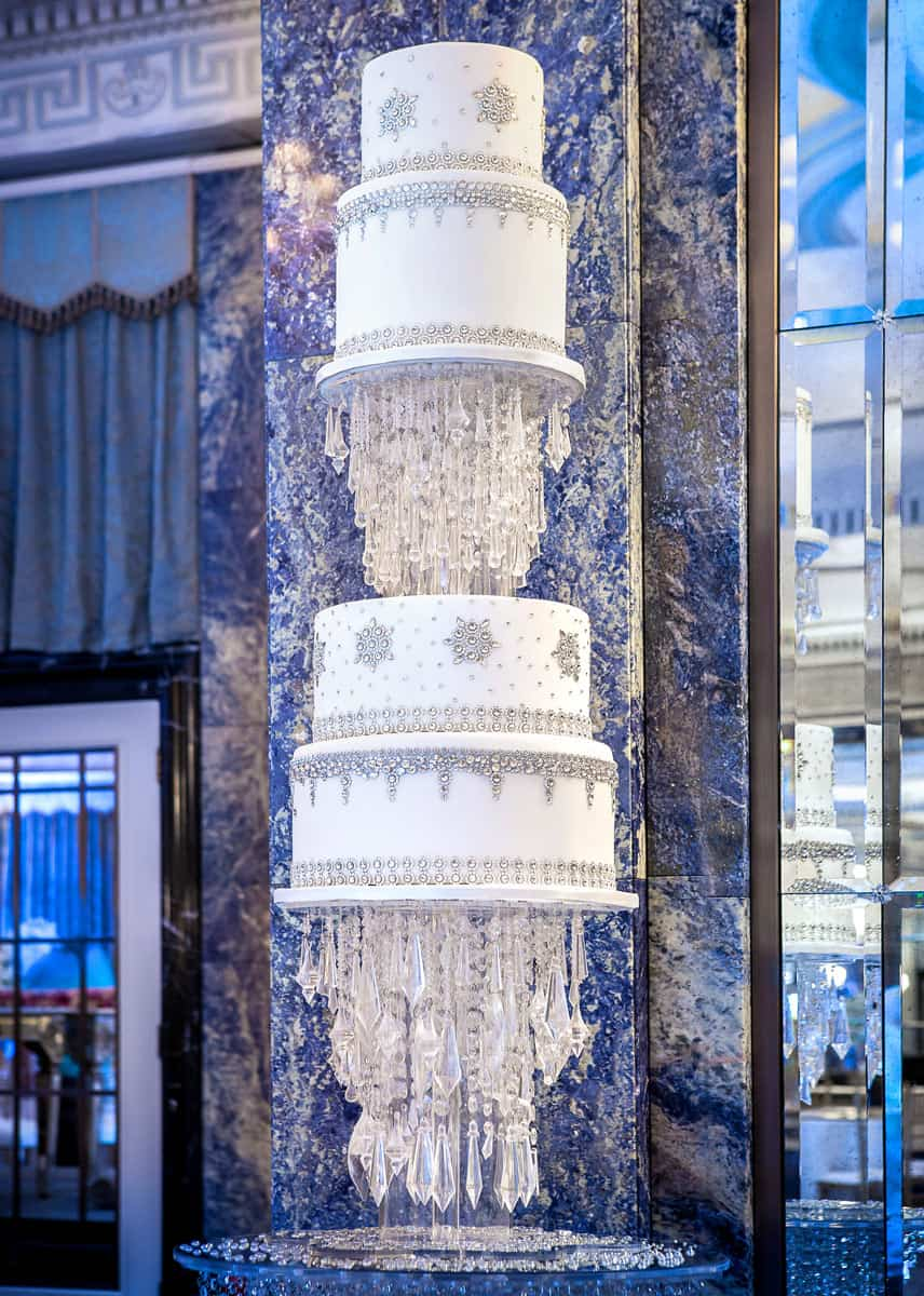 floating bling wedding cake dorchester1 copy
