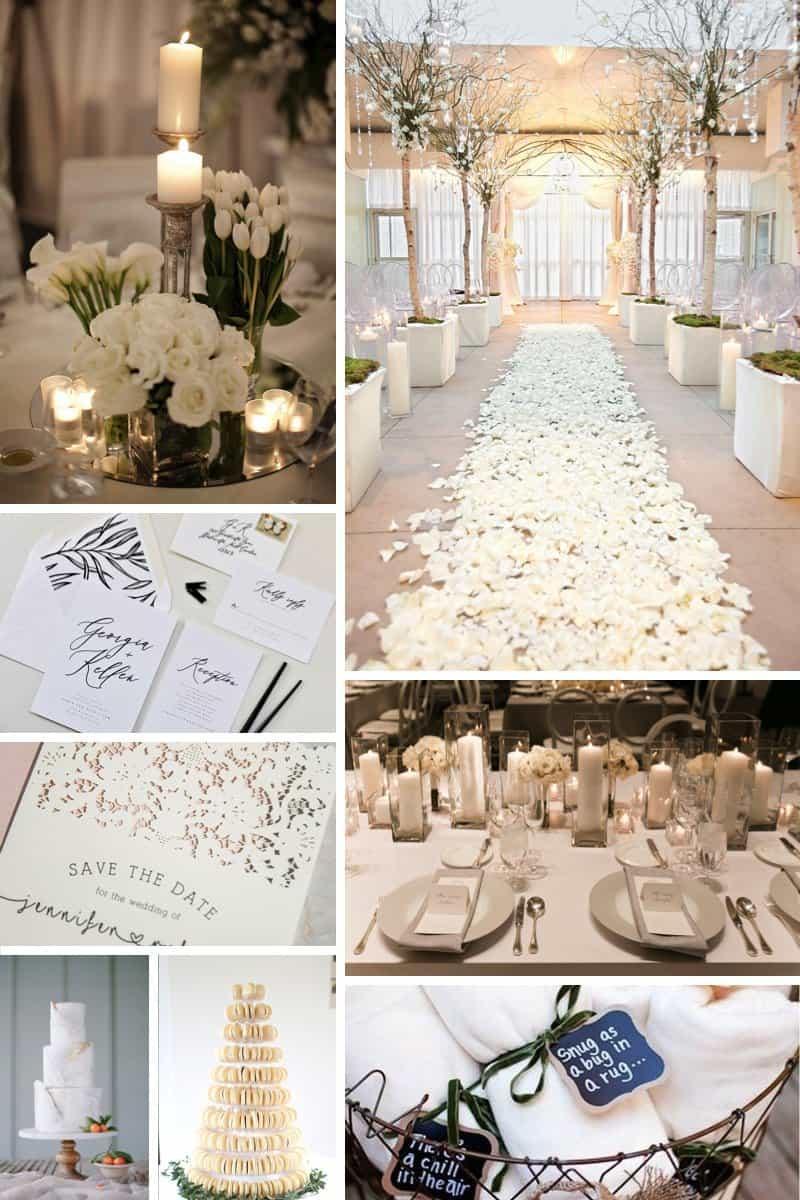 Colour Palette: Wedding Pure White