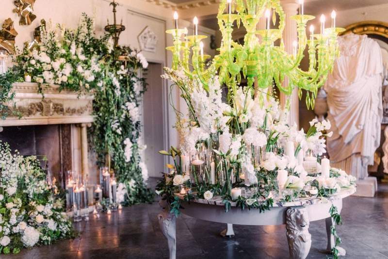 Amie Bone Flowers - White Flowers on table