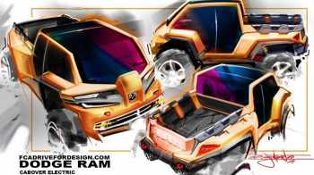 Futuristic Ram Truck Design. (Bryan Johnson).