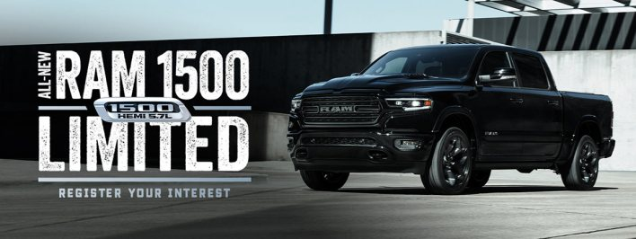 2021 Ram 1500 Limited Night Edition Crew Cab 4x4 Banner. (Ram Trucks Australia).