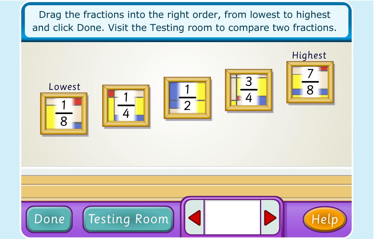 Ordering Fractions Grade 6