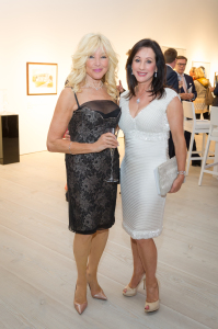 Frances Segelman, Lyn Schlesinger at the Be Inspired Art Auction, Saatchi Gallery in aid of The Prince's Foundation for Children & the Arts. Photo www.theurbansnapper.com