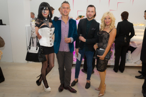 XXXora, Simon Tarrant, Peter Lloyd, Frances Segelman at the Be Inspired Art Auction, Saatchi Gallery in aid of The Prince's Foundation for Children & the Arts. Photo www.theurbansnapper.com