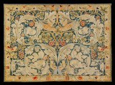 'Acanthus and Vine' embroidery, designed by William Morris, 1879.