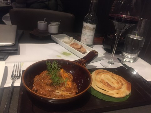 Winter menu at Lotus fine dining Indian restaurant, Charing Cross