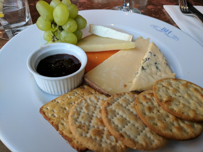 Order a plate of cheese and biscuits at Beaufort House on the King's Road in Chelsea. This chic brasserie and member's club is full of sophistication