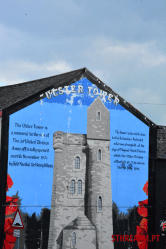 Ulster tower mural Belfat